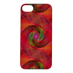Red Spiral Swirl Pattern Seamless Apple Iphone 5s/ Se Hardshell Case by Nexatart