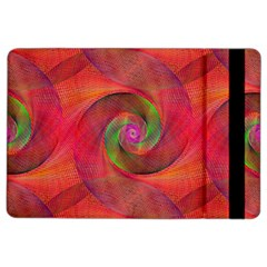 Red Spiral Swirl Pattern Seamless Ipad Air 2 Flip by Nexatart