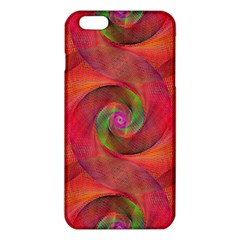 Red Spiral Swirl Pattern Seamless Iphone 6 Plus/6s Plus Tpu Case by Nexatart