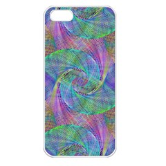 Spiral Pattern Swirl Pattern Apple Iphone 5 Seamless Case (white) by Nexatart