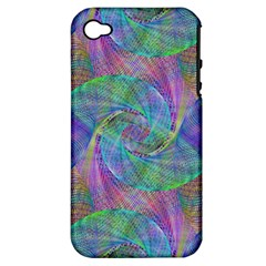 Spiral Pattern Swirl Pattern Apple Iphone 4/4s Hardshell Case (pc+silicone) by Nexatart