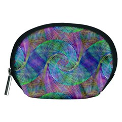 Spiral Pattern Swirl Pattern Accessory Pouches (medium)  by Nexatart