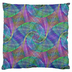 Spiral Pattern Swirl Pattern Standard Flano Cushion Case (one Side)