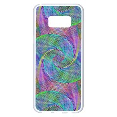 Spiral Pattern Swirl Pattern Samsung Galaxy S8 Plus White Seamless Case by Nexatart