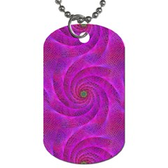 Pink Abstract Background Curl Dog Tag (one Side) by Nexatart
