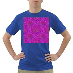 Pink Abstract Background Curl Dark T-shirt by Nexatart