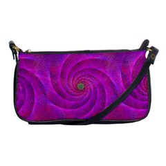 Pink Abstract Background Curl Shoulder Clutch Bags