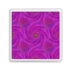 Pink Abstract Background Curl Memory Card Reader (square)