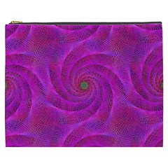 Pink Abstract Background Curl Cosmetic Bag (xxxl)  by Nexatart