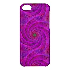 Pink Abstract Background Curl Apple Iphone 5c Hardshell Case by Nexatart