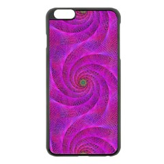Pink Abstract Background Curl Apple Iphone 6 Plus/6s Plus Black Enamel Case by Nexatart