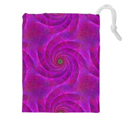 Pink Abstract Background Curl Drawstring Pouches (xxl)