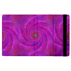 Pink Abstract Background Curl Apple Ipad Pro 12 9   Flip Case