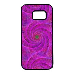 Pink Abstract Background Curl Samsung Galaxy S7 Black Seamless Case