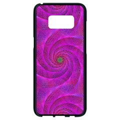 Pink Abstract Background Curl Samsung Galaxy S8 Black Seamless Case by Nexatart