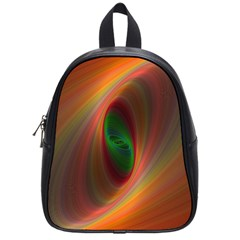 Ellipse Fractal Orange Background School Bag (small)
