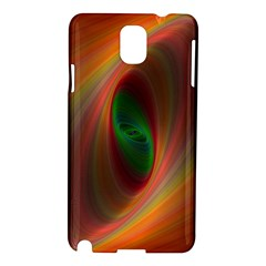 Ellipse Fractal Orange Background Samsung Galaxy Note 3 N9005 Hardshell Case