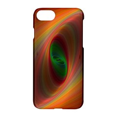 Ellipse Fractal Orange Background Apple Iphone 7 Hardshell Case