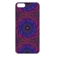 Pattern Seamless Repeat Spiral Apple Iphone 5 Seamless Case (white) by Nexatart