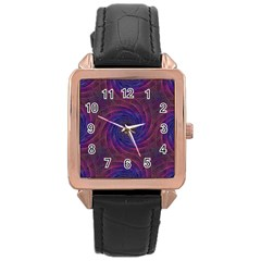 Pattern Seamless Repeat Spiral Rose Gold Leather Watch  by Nexatart
