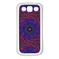 Pattern Seamless Repeat Spiral Samsung Galaxy S3 Back Case (white) by Nexatart