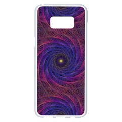 Pattern Seamless Repeat Spiral Samsung Galaxy S8 Plus White Seamless Case by Nexatart
