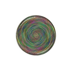 Spiral Spin Background Artwork Hat Clip Ball Marker (4 Pack) by Nexatart