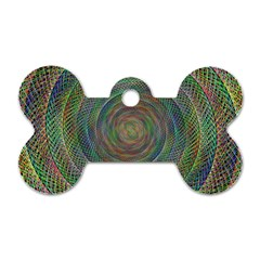 Spiral Spin Background Artwork Dog Tag Bone (two Sides) by Nexatart