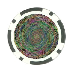 Spiral Spin Background Artwork Poker Chip Card Guard by Nexatart