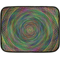 Spiral Spin Background Artwork Double Sided Fleece Blanket (mini)  by Nexatart