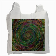 Spiral Spin Background Artwork Recycle Bag (two Side)  by Nexatart