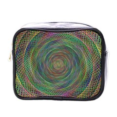 Spiral Spin Background Artwork Mini Toiletries Bags by Nexatart