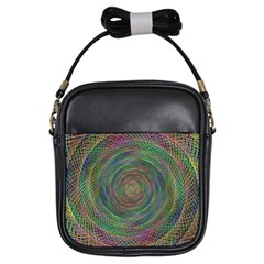 Spiral Spin Background Artwork Girls Sling Bags by Nexatart