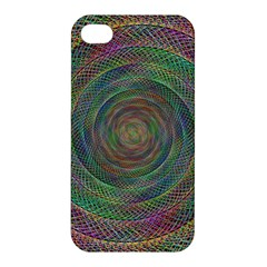 Spiral Spin Background Artwork Apple Iphone 4/4s Premium Hardshell Case