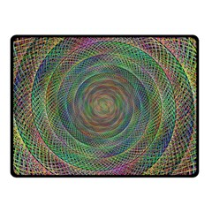 Spiral Spin Background Artwork Double Sided Fleece Blanket (small)  by Nexatart