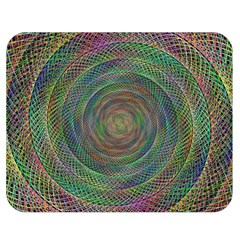 Spiral Spin Background Artwork Double Sided Flano Blanket (medium)  by Nexatart