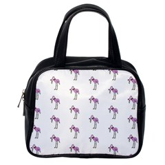Sweet Flamingo Pattern Classic Handbags (one Side) by MoreColorsinLife