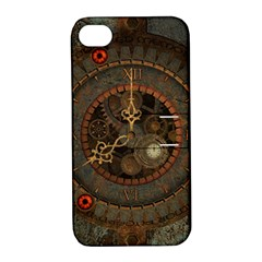 Steampunk, Awesome Clocks Apple Iphone 4/4s Hardshell Case With Stand by FantasyWorld7