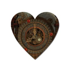 Steampunk, Awesome Clocks Heart Magnet by FantasyWorld7