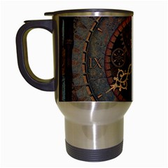 Steampunk, Awesome Clocks Travel Mugs (white) by FantasyWorld7