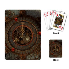 Steampunk, Awesome Clocks Playing Card by FantasyWorld7