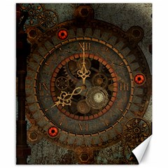 Steampunk, Awesome Clocks Canvas 8  X 10  by FantasyWorld7
