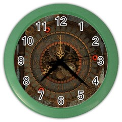 Steampunk, Awesome Clocks Color Wall Clocks by FantasyWorld7