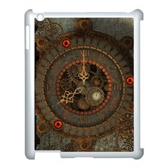 Steampunk, Awesome Clocks Apple Ipad 3/4 Case (white) by FantasyWorld7
