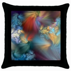 Evidence Of Angels Throw Pillow Case (black) by WolfepawFractals