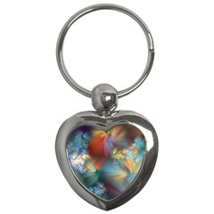 Evidence Of Angels Key Chains (heart)  by WolfepawFractals