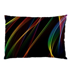 Rainbow Ribbons Pillow Case by Nexatart