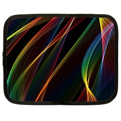 Rainbow Ribbons Netbook Case (xl)  by Nexatart