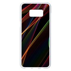 Rainbow Ribbons Samsung Galaxy S8 Plus White Seamless Case by Nexatart