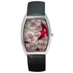 Morocco Motif Pattern Travel Barrel Style Metal Watch